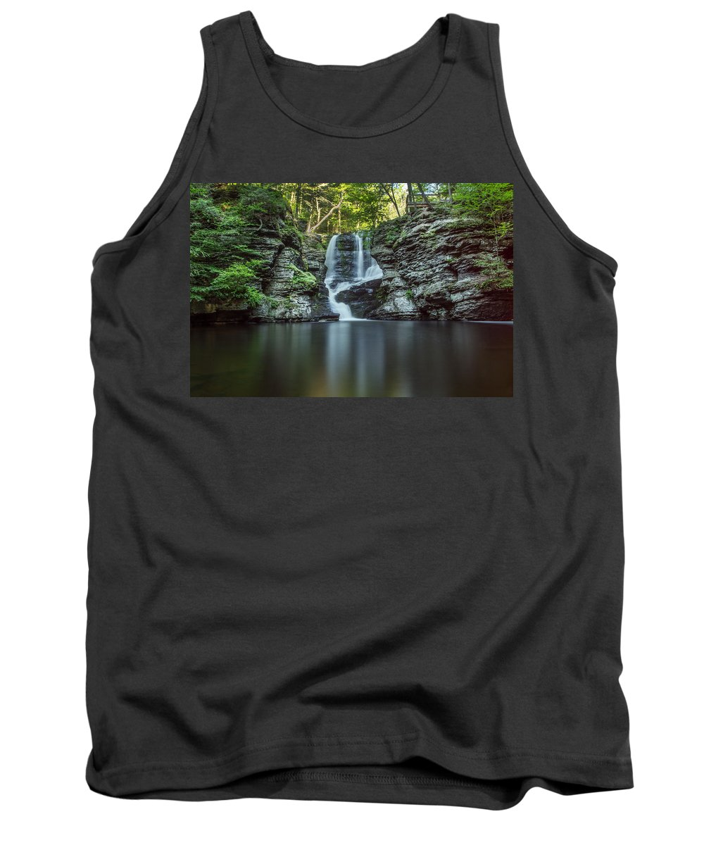 Waterfall Tank Top featuring the photograph Child's Park Waterfall 2 by Eleanor Bortnick