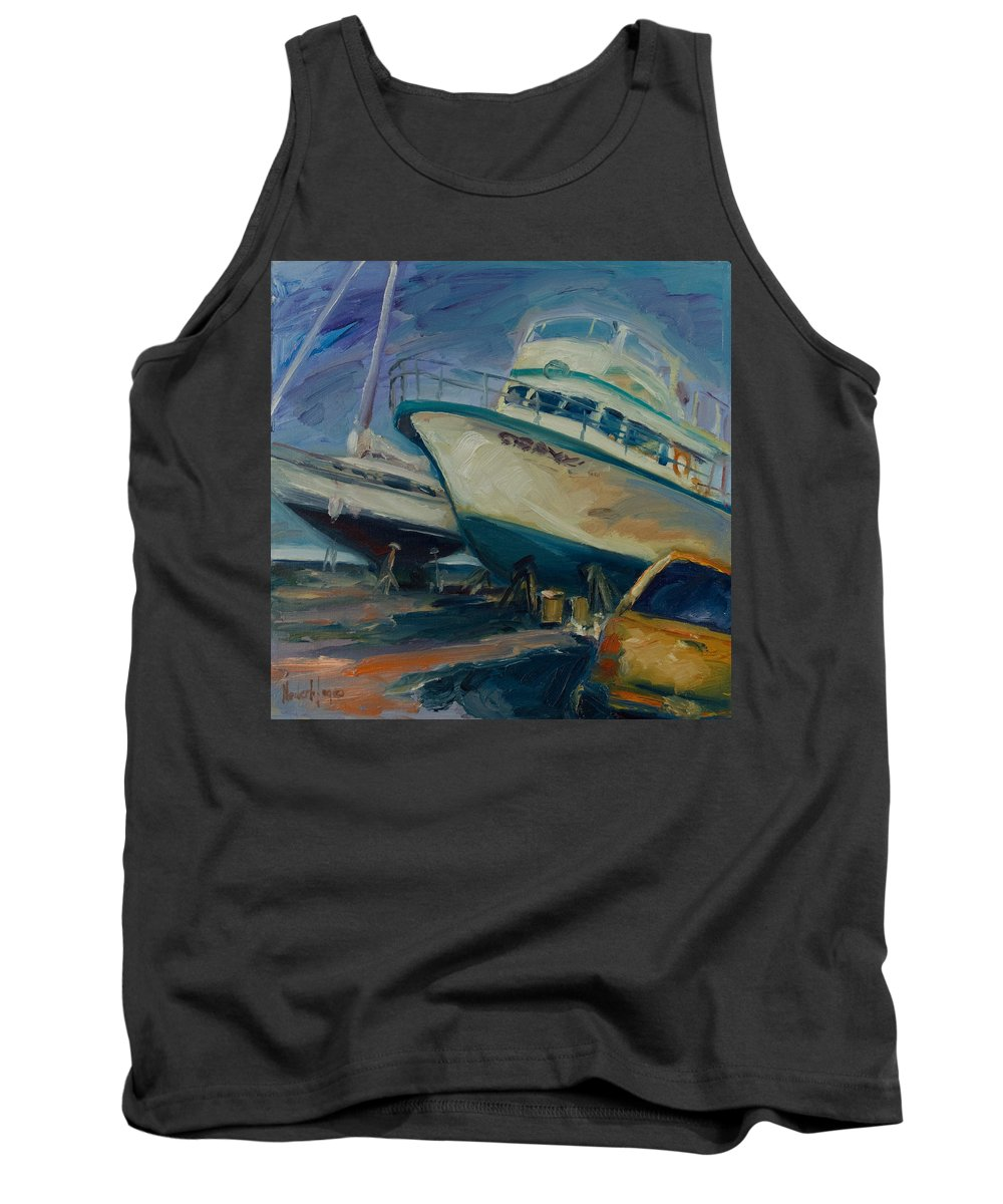 Boats Tank Top featuring the painting China Basin by Rick Nederlof