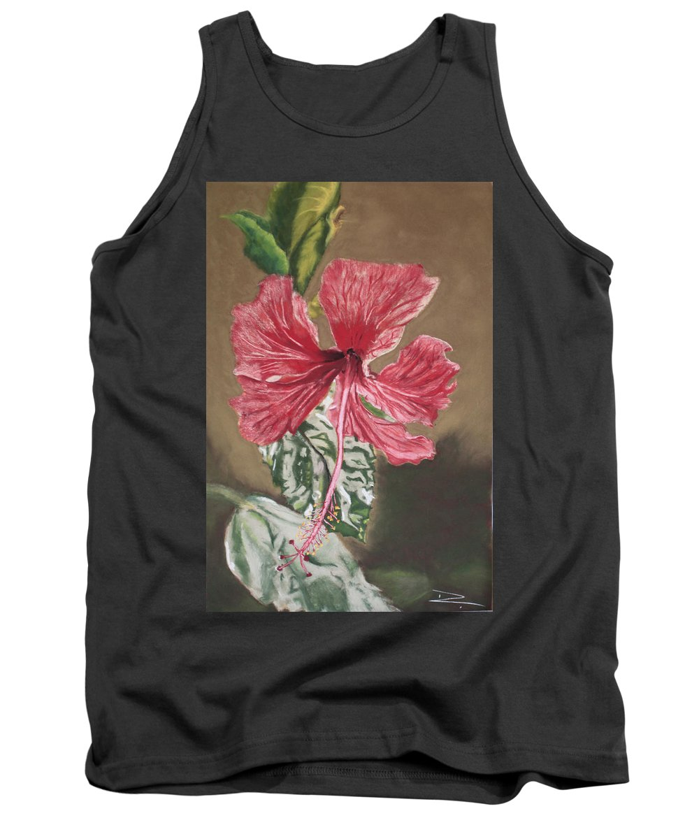 Flower Tank Top featuring the painting China Rose by D Turner