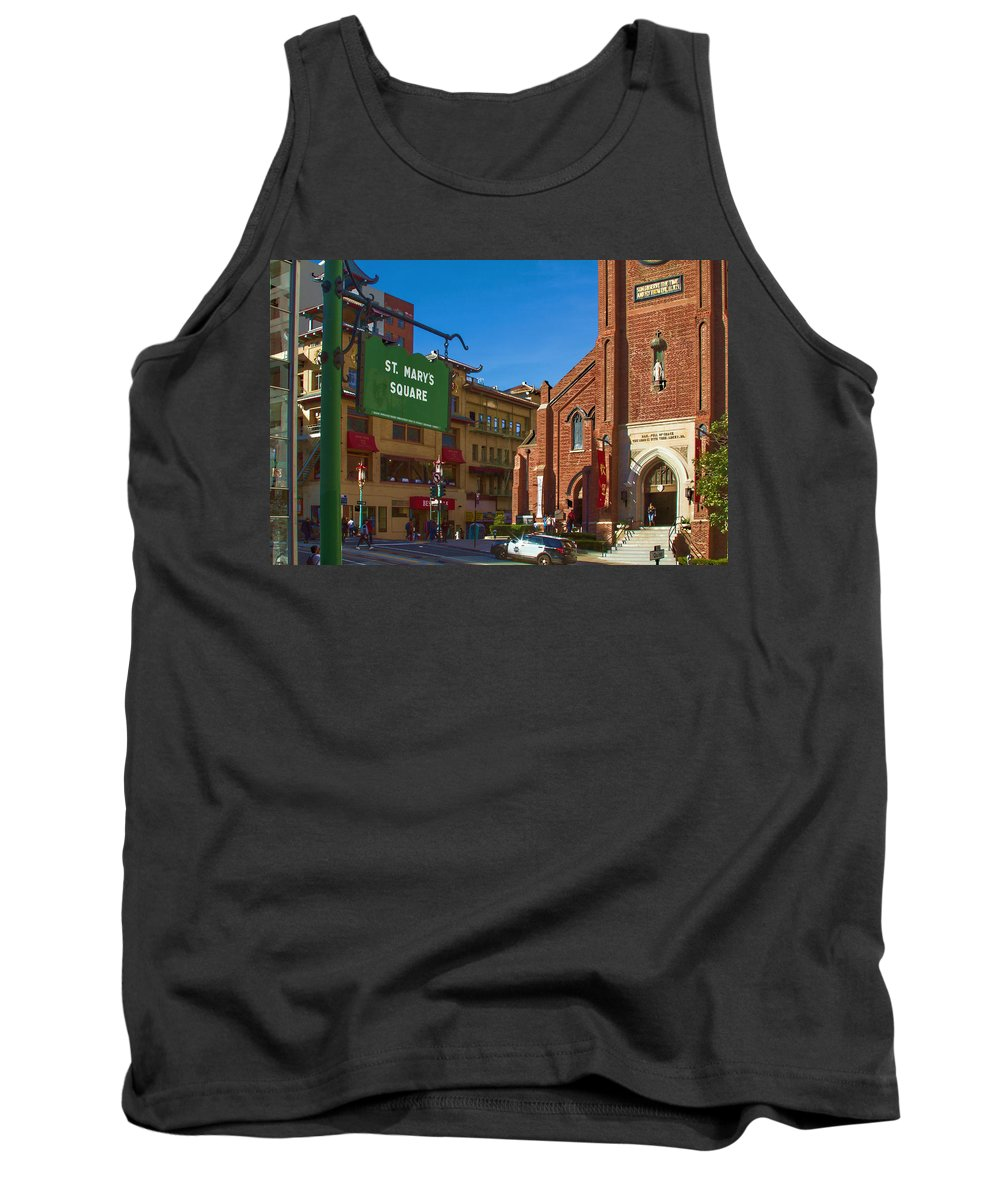 Bonnie Follett Tank Top featuring the photograph Chinatown View From St. Mary's Square by Bonnie Follett
