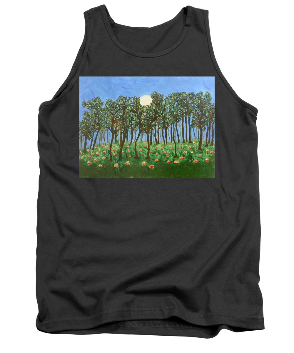 Landscape Tank Top featuring the painting Chocolate Bark by Sara Credito