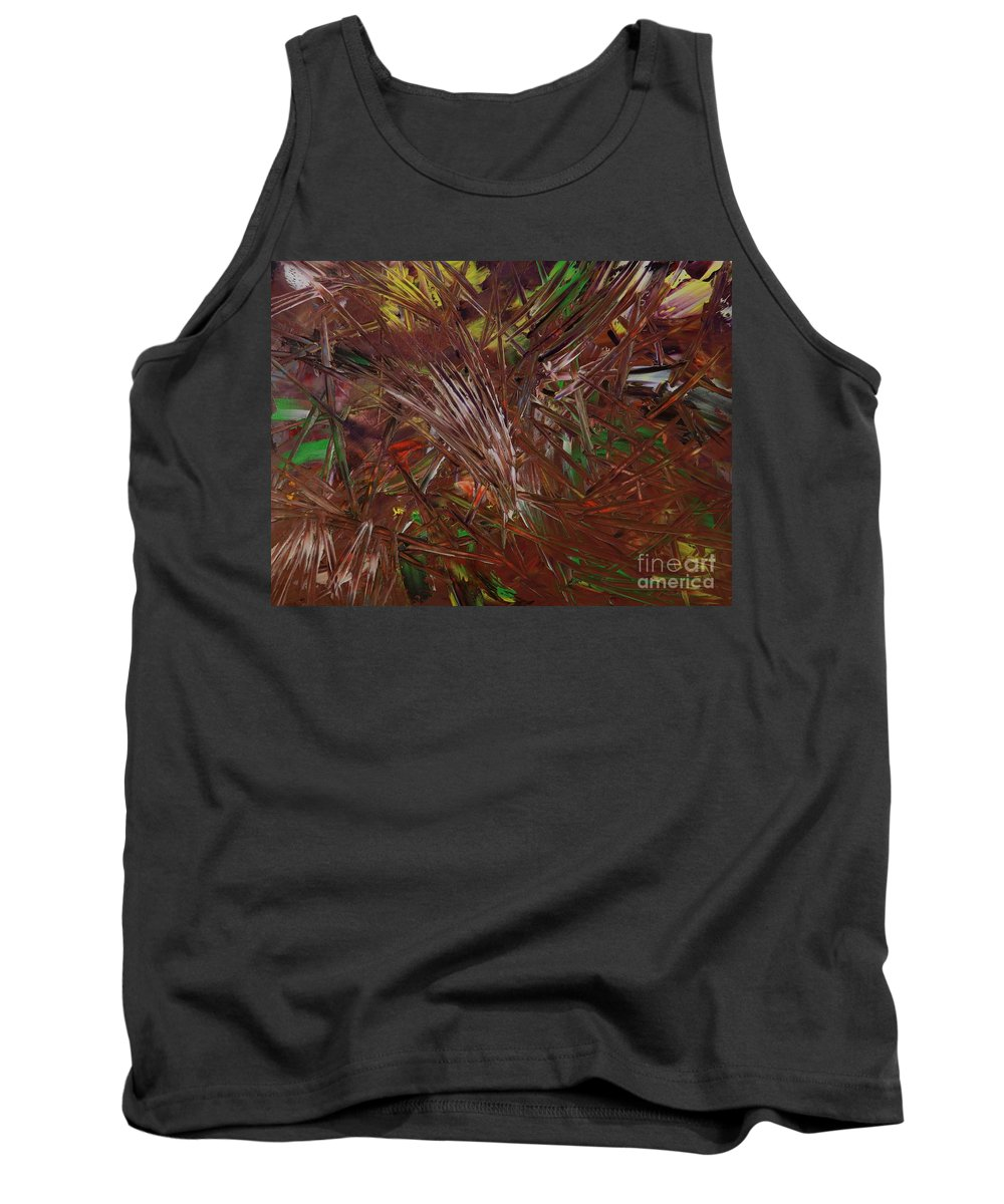 Oil Tank Top featuring the painting Chocolate Jungle - 197 by Robert Dixon