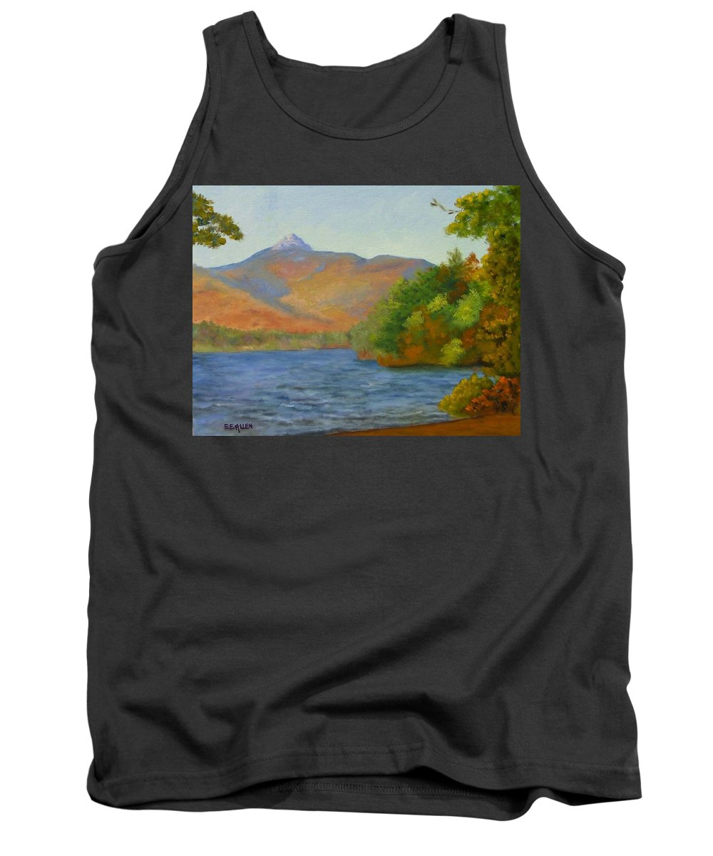 Mount Chocorua And Chocorua Lake Tank Top featuring the painting Chocorua by Sharon E Allen