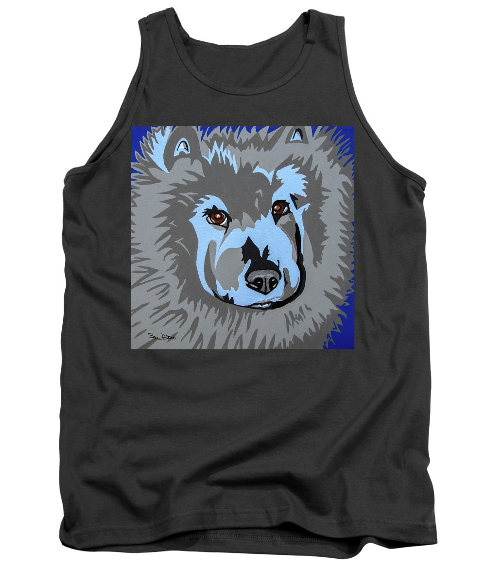 Chow Tank Top featuring the painting Chow Chow by Slade Roberts