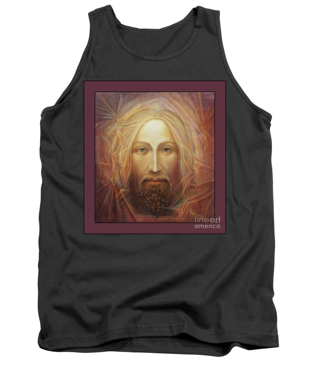Christ Tank Top featuring the painting Christ As Light by Ann Chapin