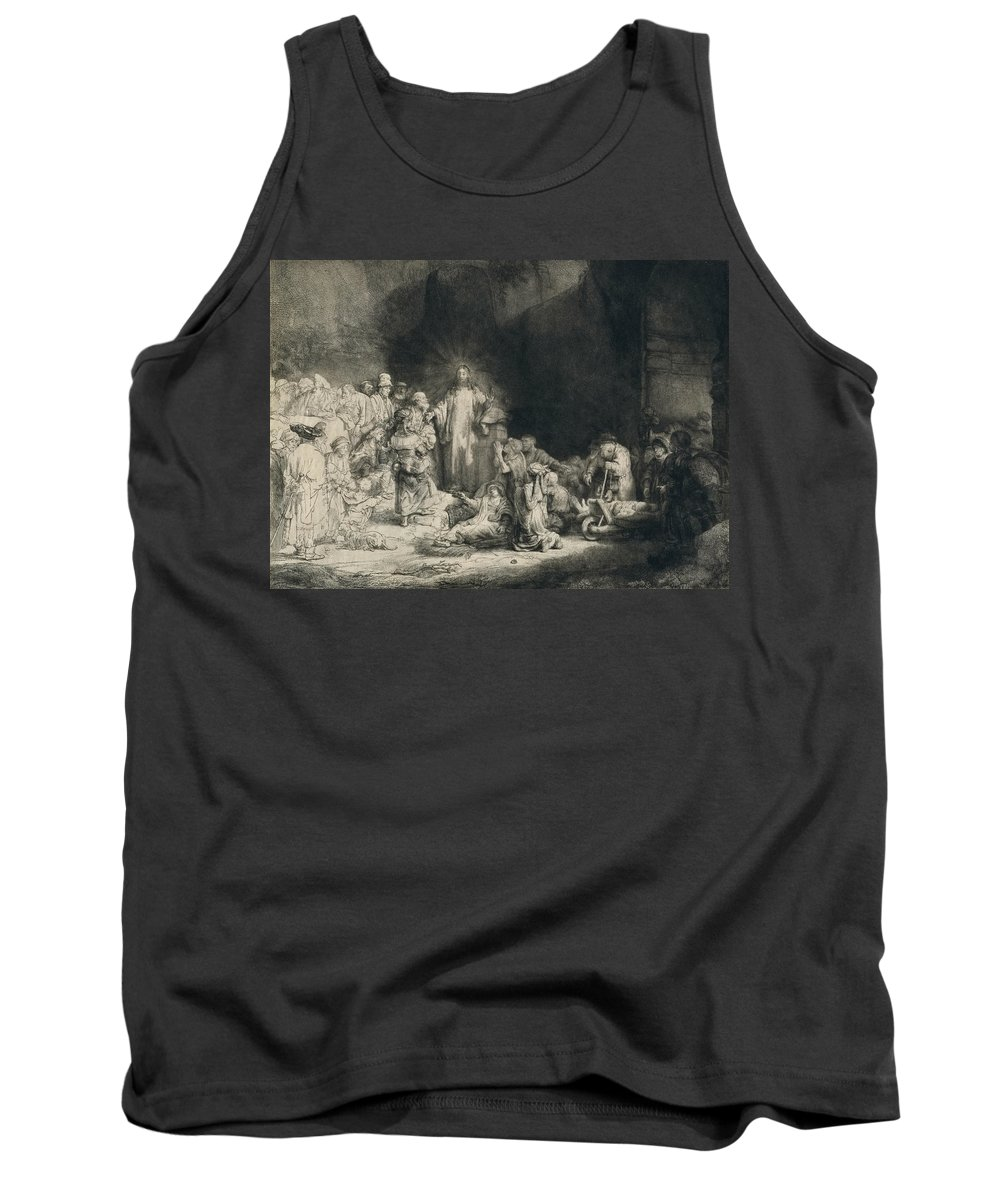 Rembrandt Tank Top featuring the relief Christ With The Sick Around Him, Receiving Little Children by Rembrandt