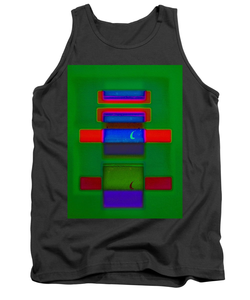 Rothko Tank Top featuring the painting Christmas by Charles Stuart