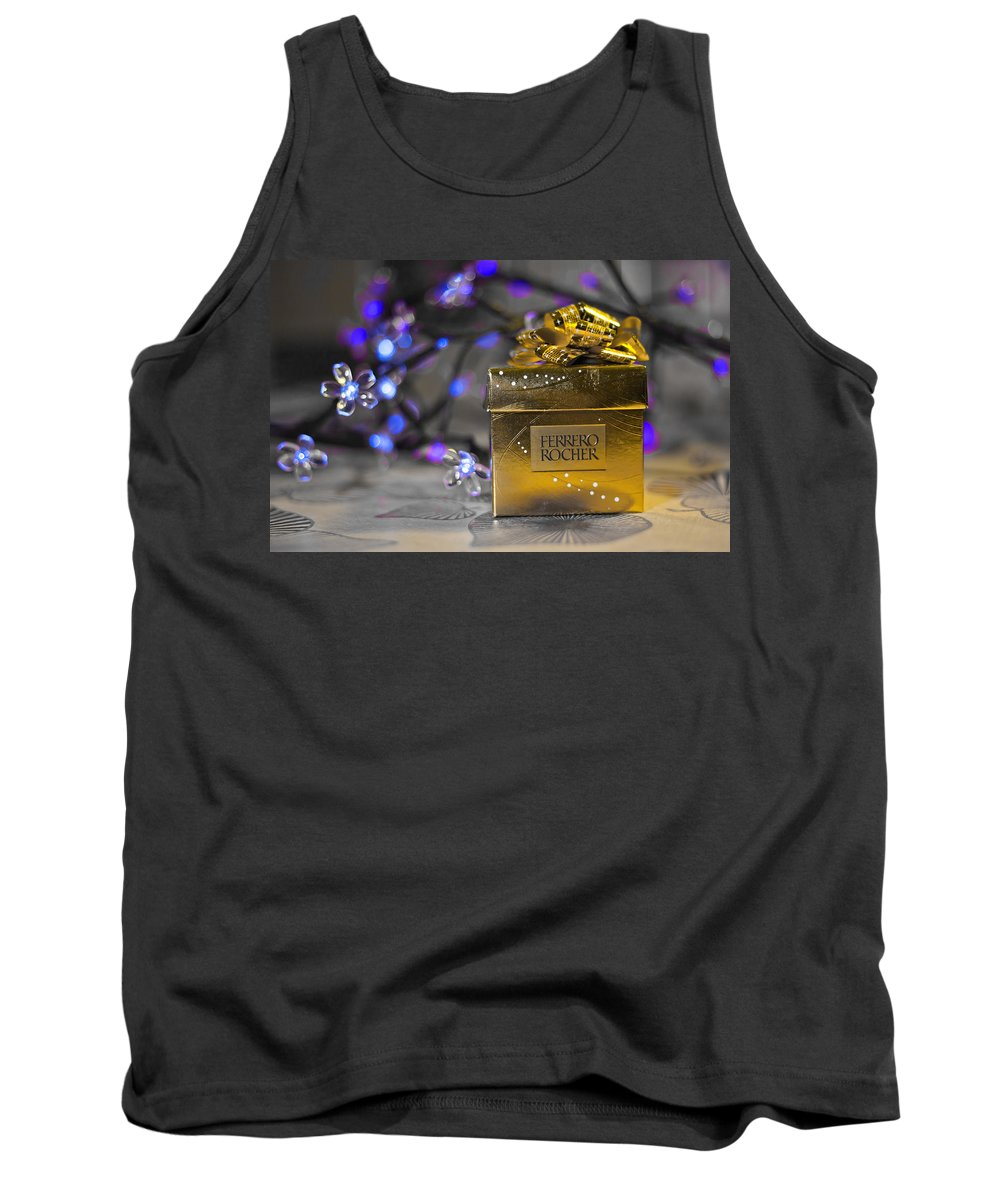 Merry Christmas And Happy New Year Tank Top featuring the photograph Christmas Treat 2 by Alex Art and Photo