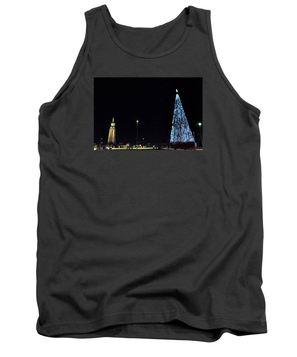 Christmas Tree Tank Top featuring the photograph Christmas Tree San Salvador 3 by Totto Ponce