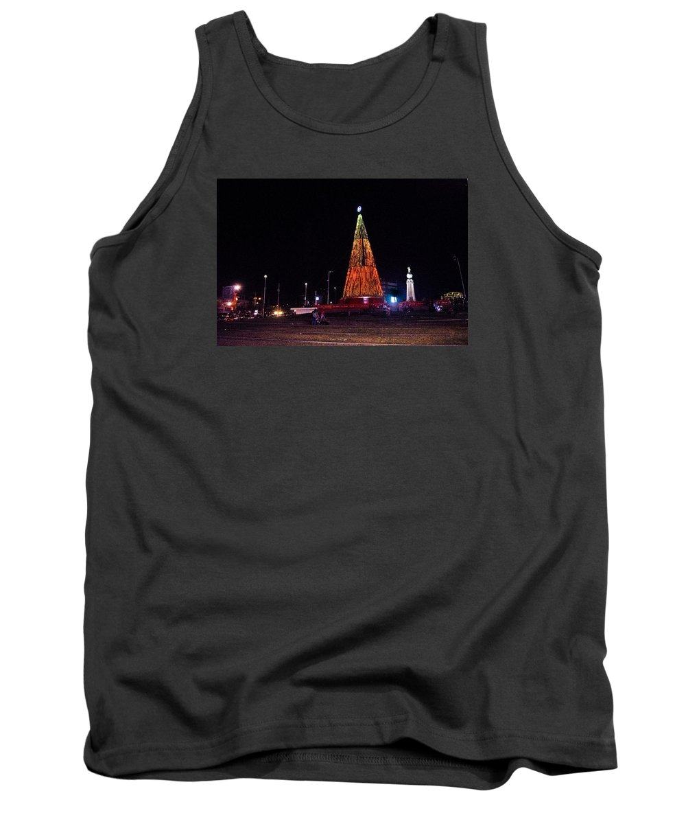 Christmas Tree Tank Top featuring the photograph Christmas Tree San Salvador 6 by Totto Ponce