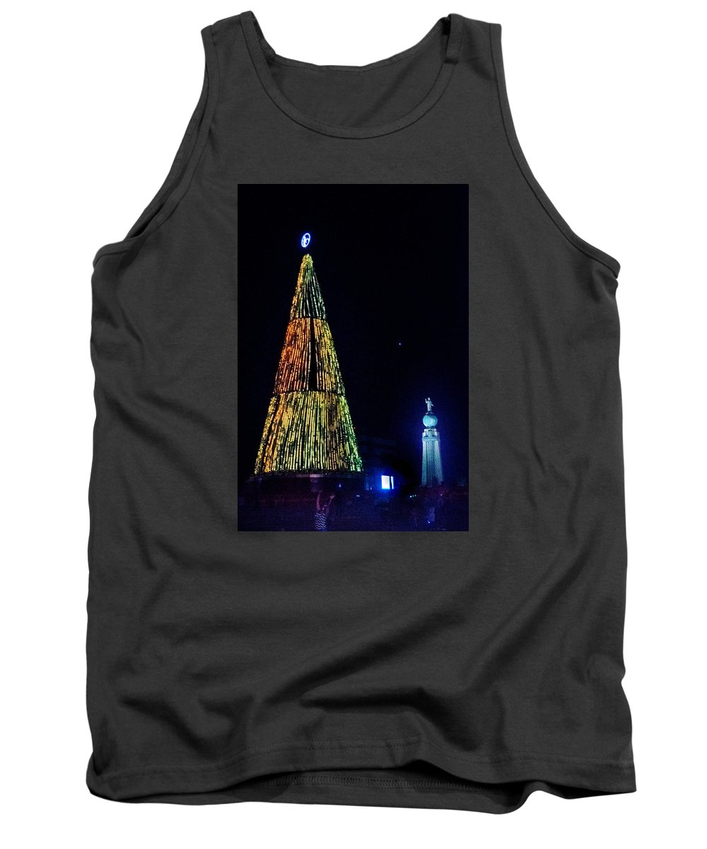 Christmas Tree Tank Top featuring the photograph Christmas Tree San Salvador by Totto Ponce