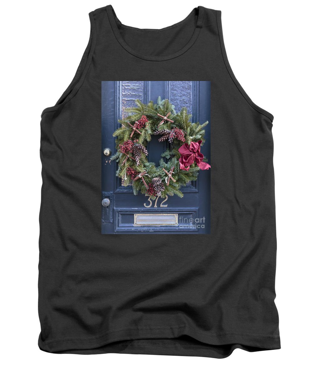 Christmas Tank Top featuring the photograph Christmas Wreath by Edward Fielding