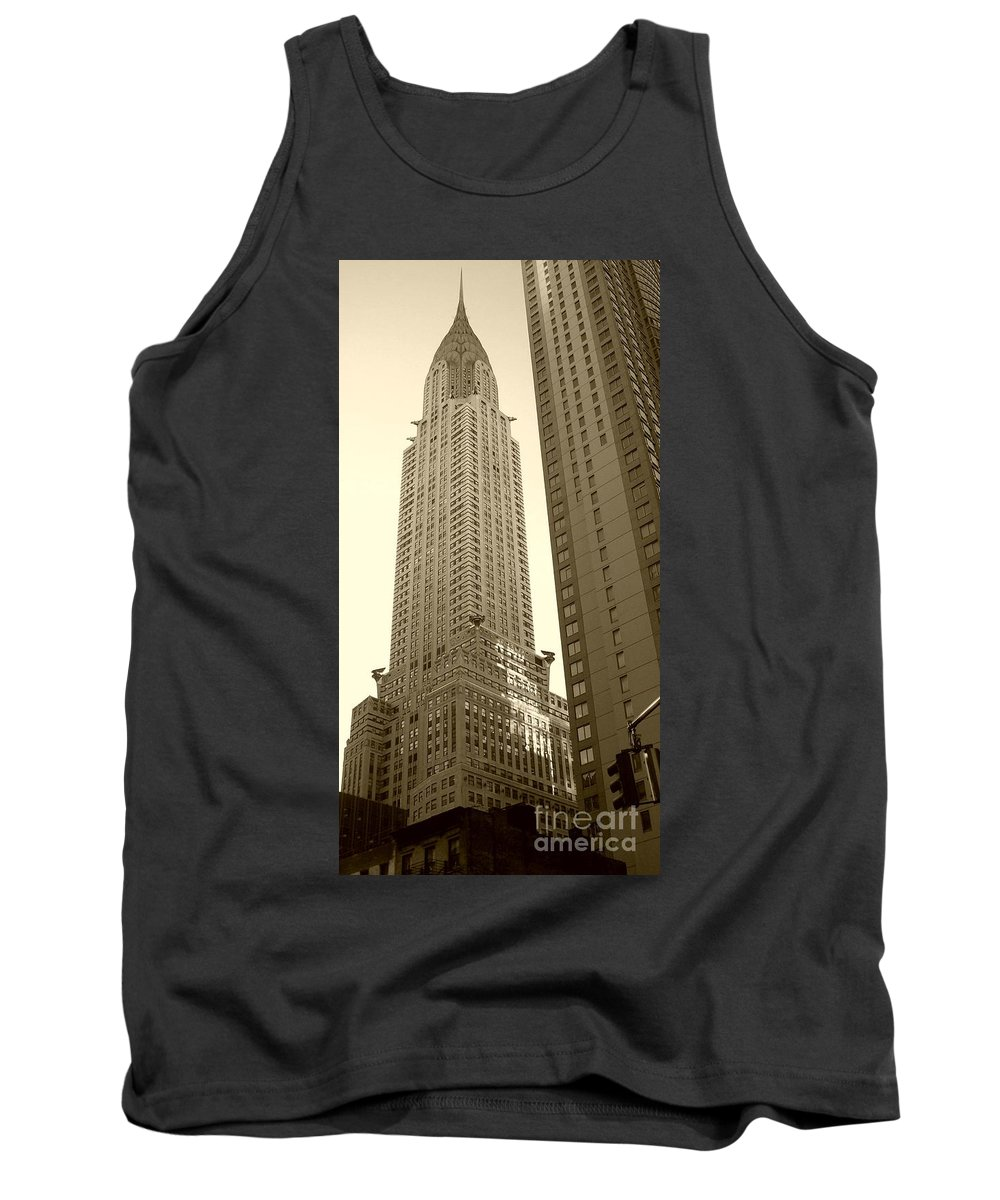New York Tank Top featuring the photograph Chrysler Building by Debbi Granruth
