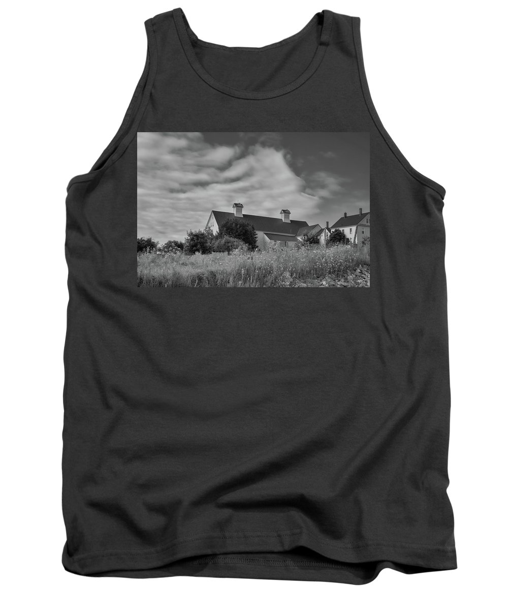Grange Tank Top featuring the photograph Church Hill Road Barn by Guy Whiteley