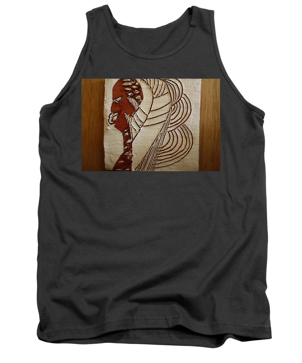 Jesus Tank Top featuring the ceramic art Church Lady 6 - Tile by Gloria Ssali