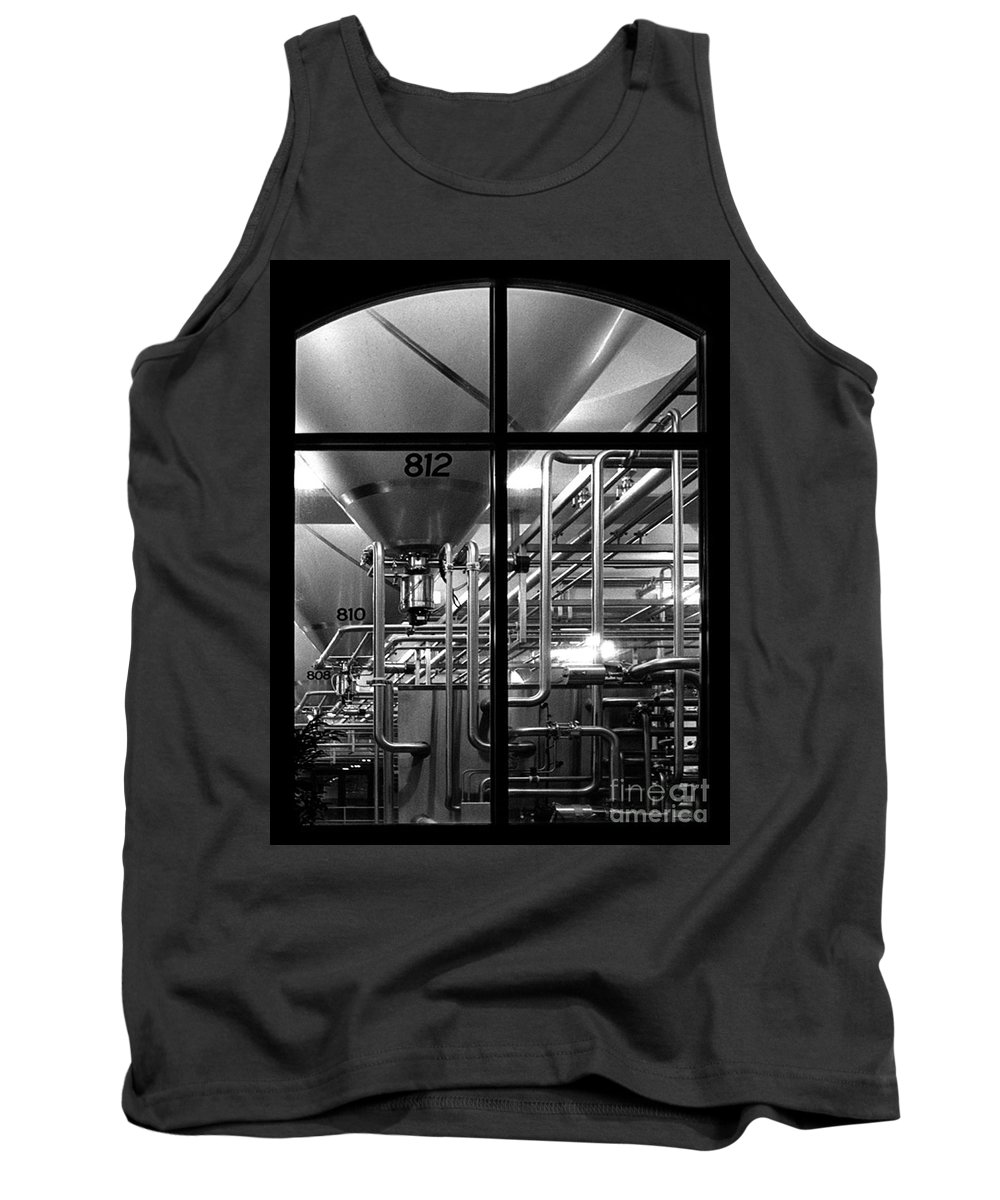 Black And White Tank Top featuring the photograph Church Of Modern Man by Peter Piatt