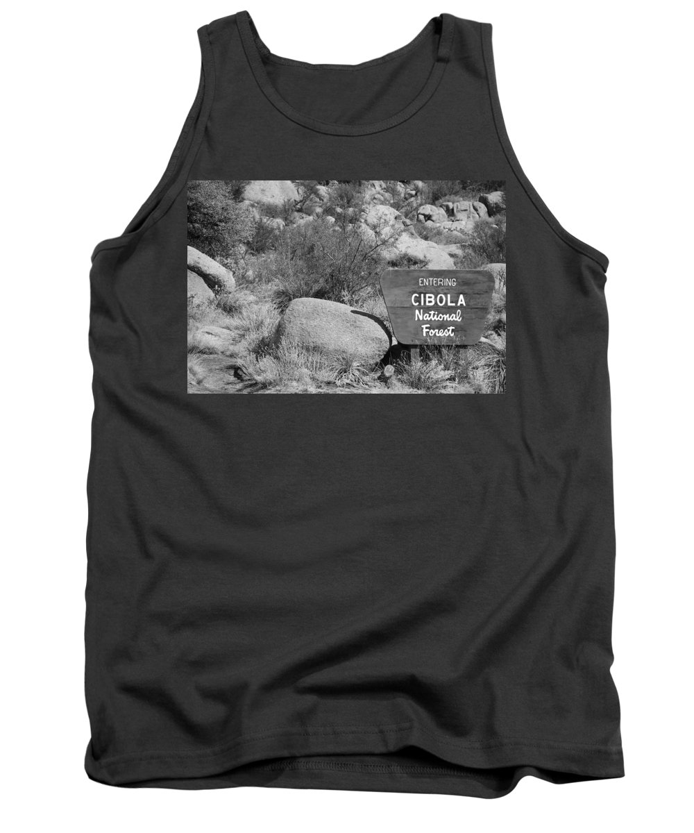 Black And White Tank Top featuring the photograph Cibola National Forest by Rob Hans