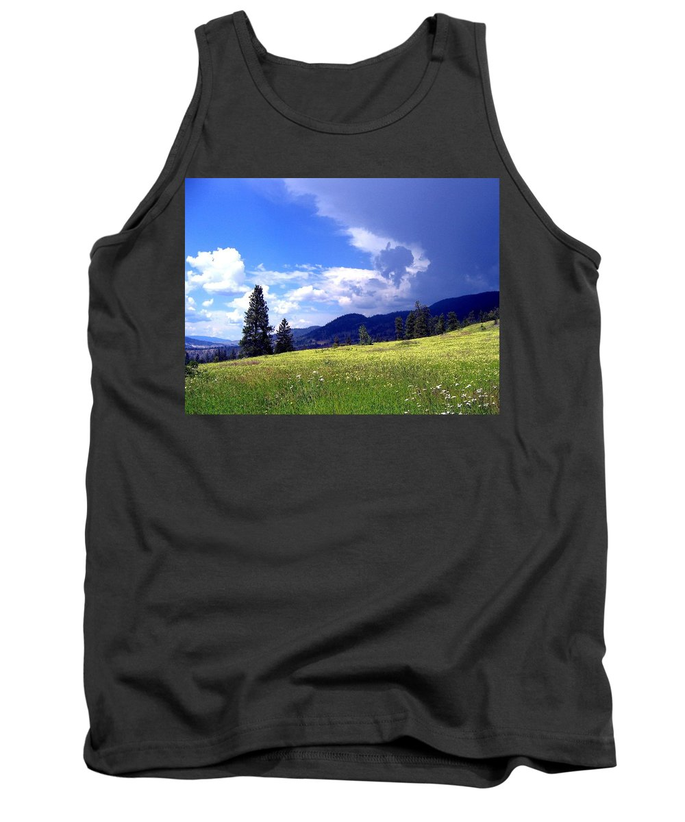 Cinquefoil Tank Top featuring the photograph Cinquefoil Blossoms by Will Borden