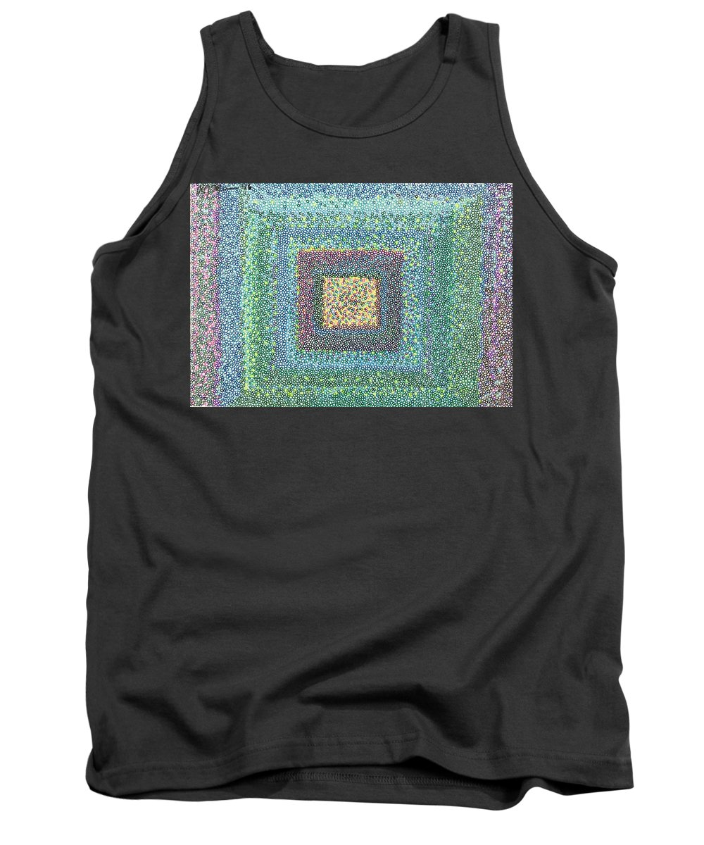Circlism Tank Top featuring the drawing Circles For Peace by Robert Joseph Moreau