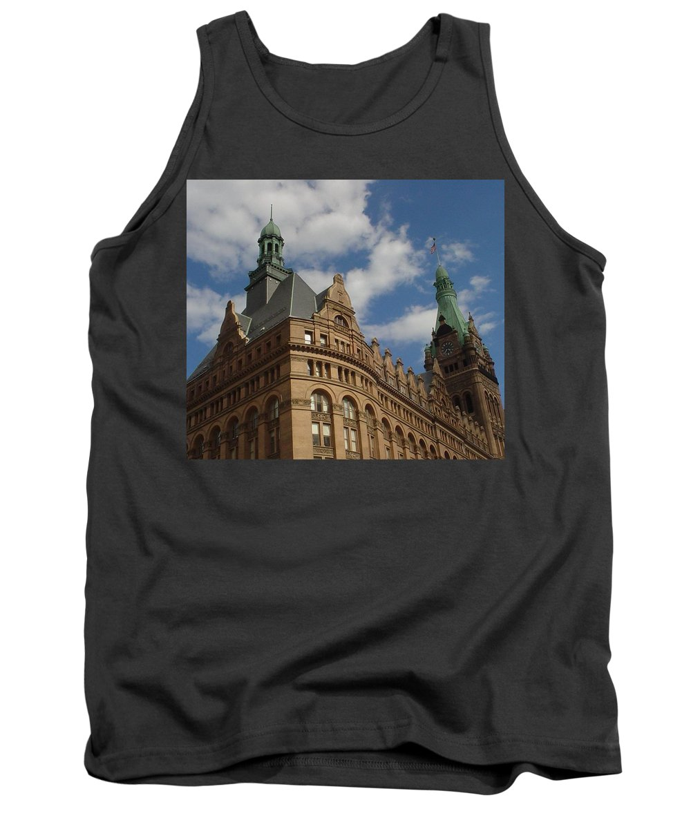 Milwaukee Tank Top featuring the photograph City Hall Roof And Tower by Anita Burgermeister