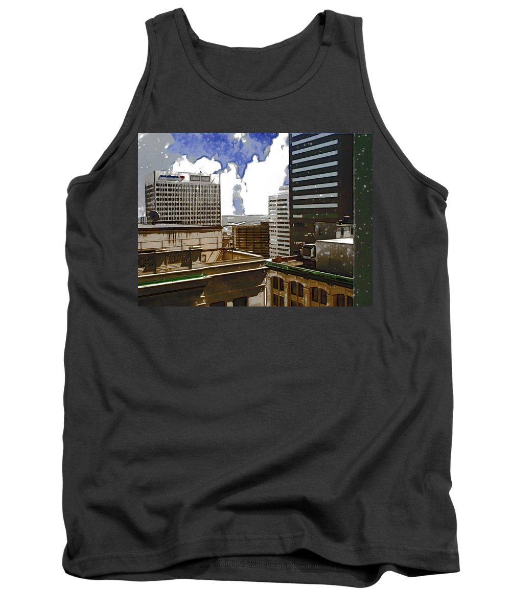 City Tank Top featuring the photograph City Skies by Paulette B Wright