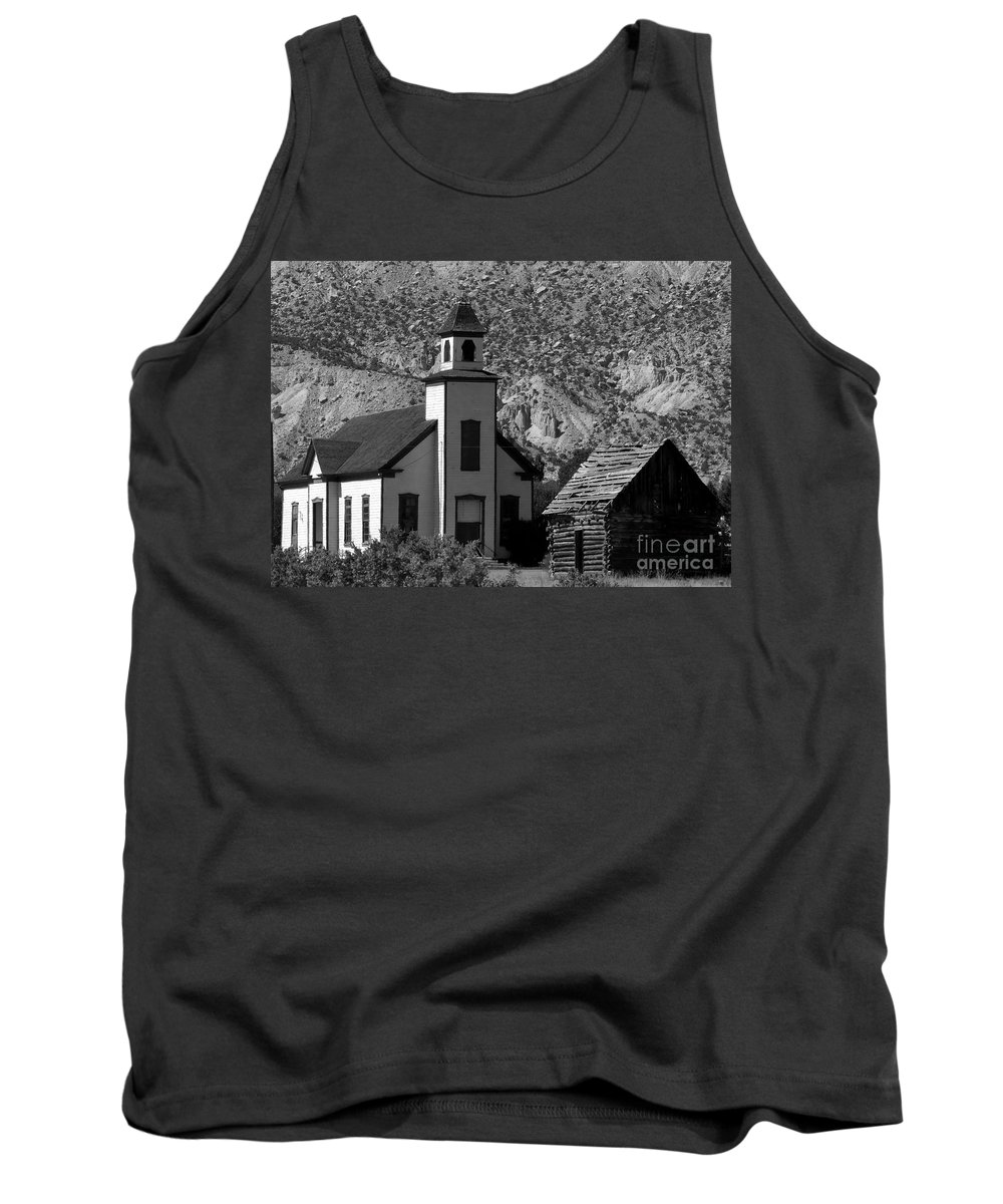 Mormon Tank Top featuring the photograph Clapboard Church 1898 by David Lee Thompson