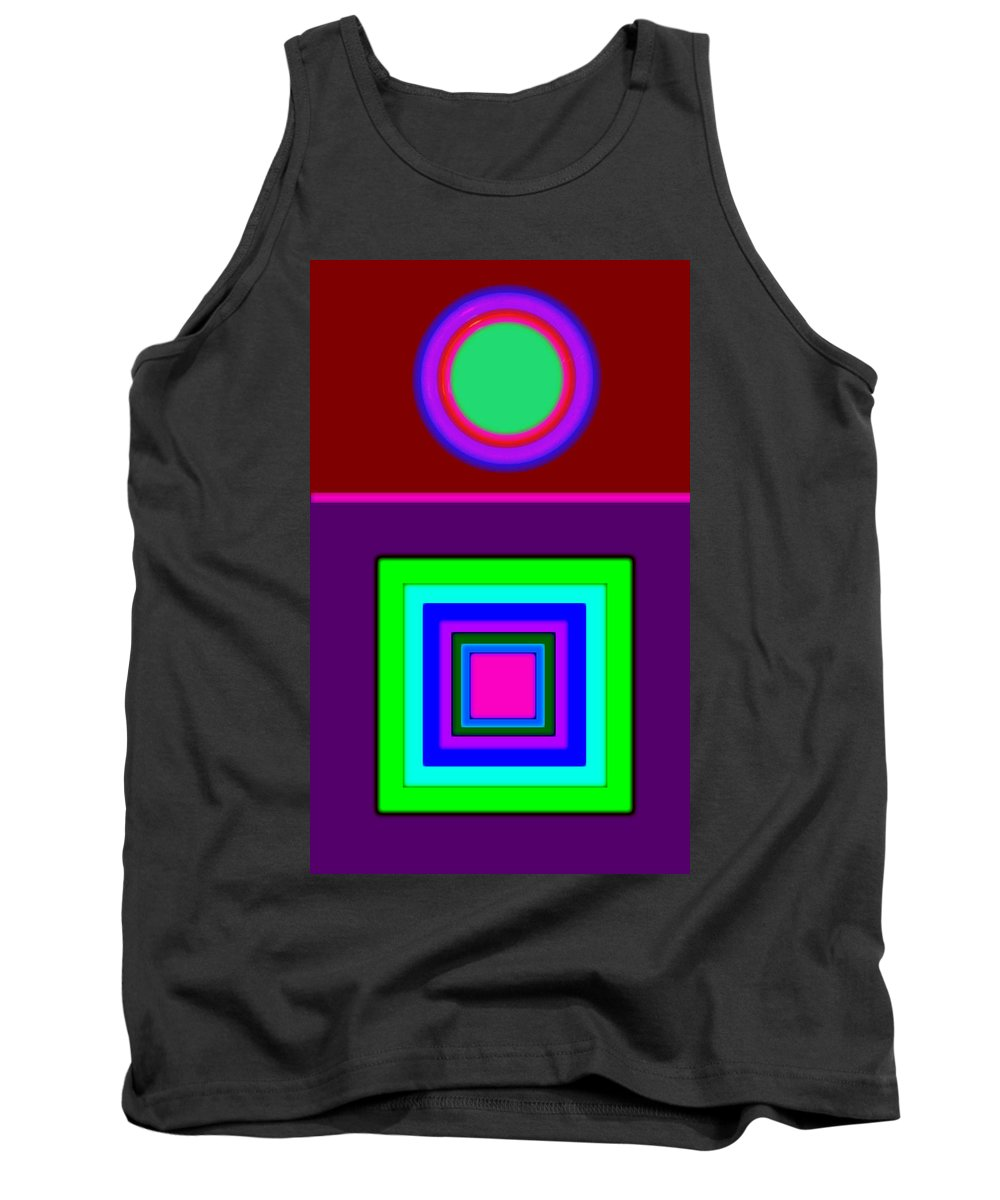 Classical Tank Top featuring the painting Classical Violet by Charles Stuart