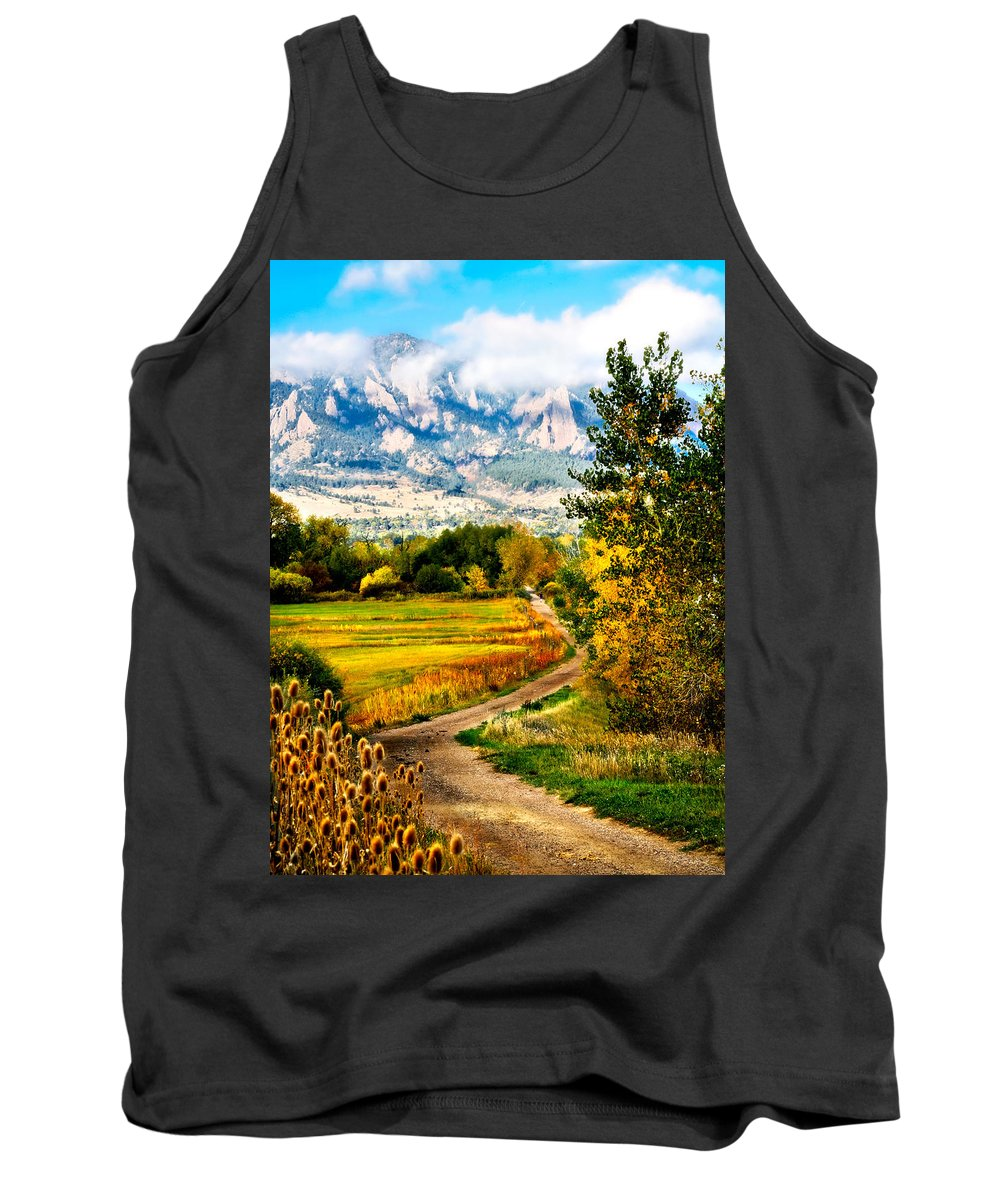 Americana Tank Top featuring the photograph Clearly Colorado by Marilyn Hunt
