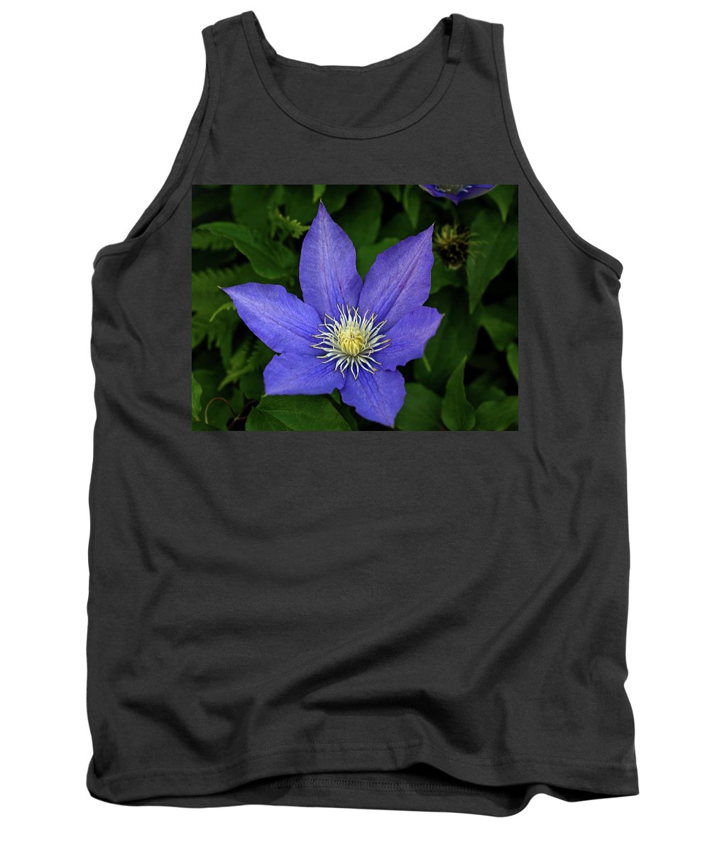 Flowers Tank Top featuring the photograph Clematis by Sandy Keeton