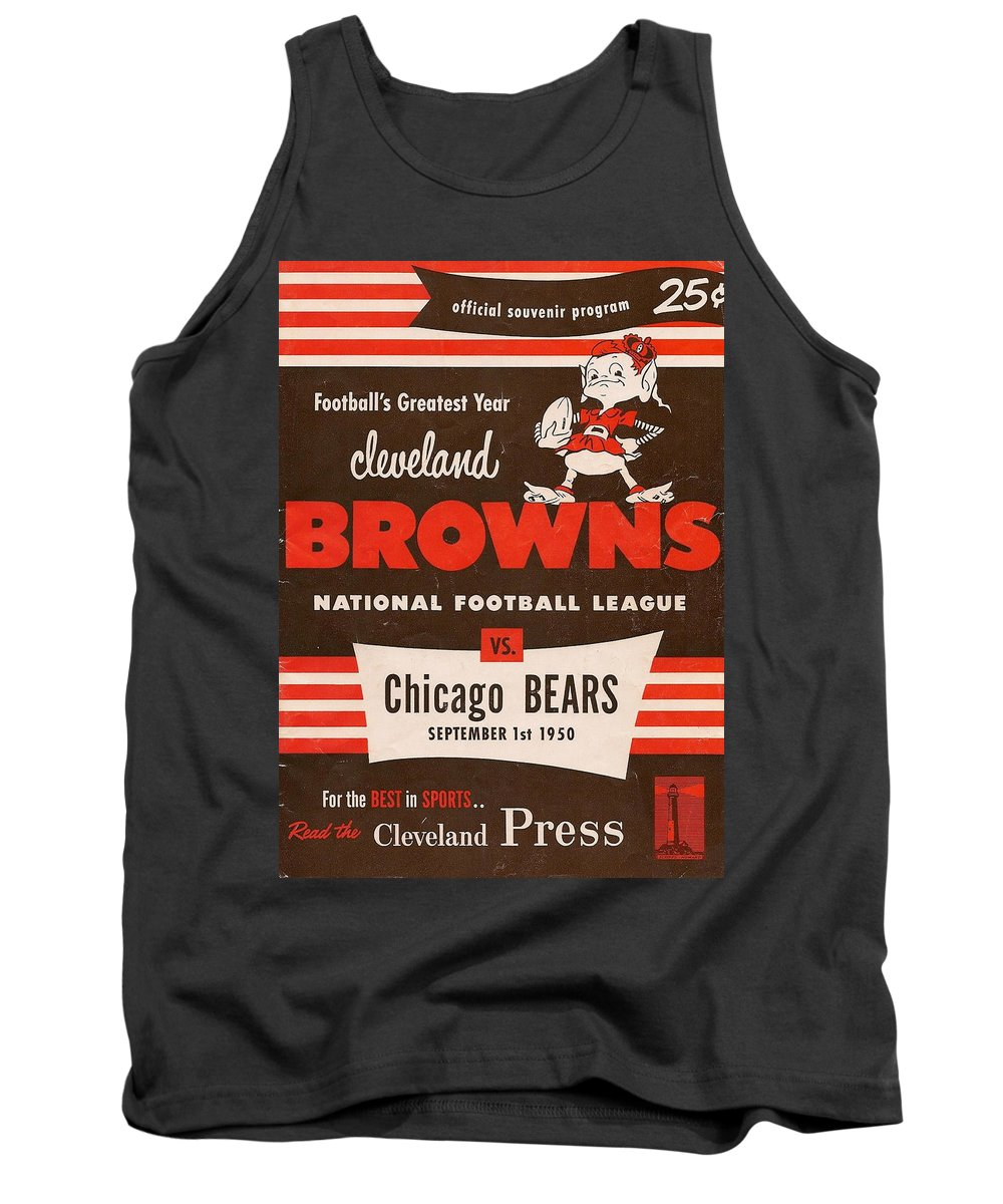 Browns Tank Top featuring the photograph Cleveland Browns Vintage Program 5 by Joe Hamilton