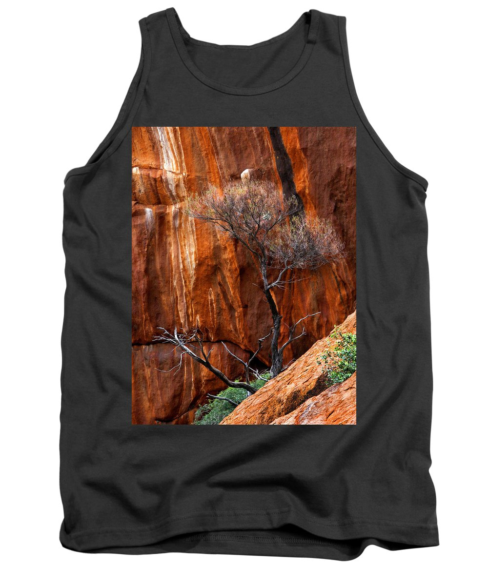 Ularu Tank Top featuring the photograph Clinging To Life by Mike Dawson