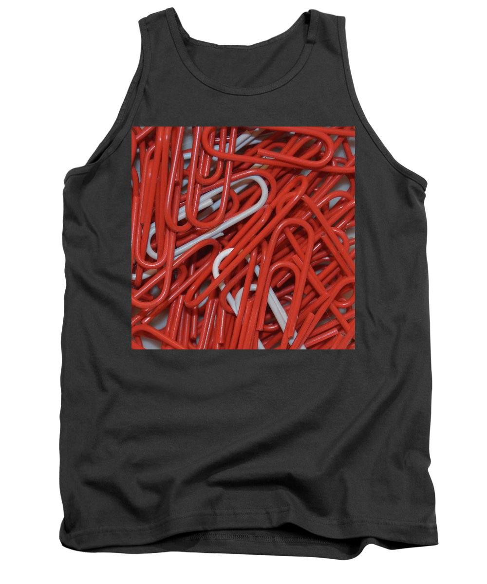 Paper Clips Tank Top featuring the digital art Clip It by Kathy Kelly