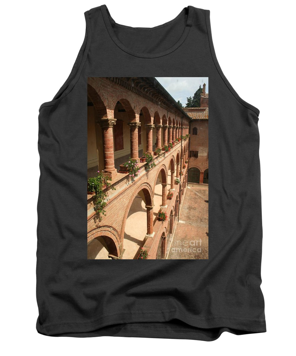 Courtyard Tank Top featuring the photograph Cloistered Courtyard by Christiane Schulze Art And Photography