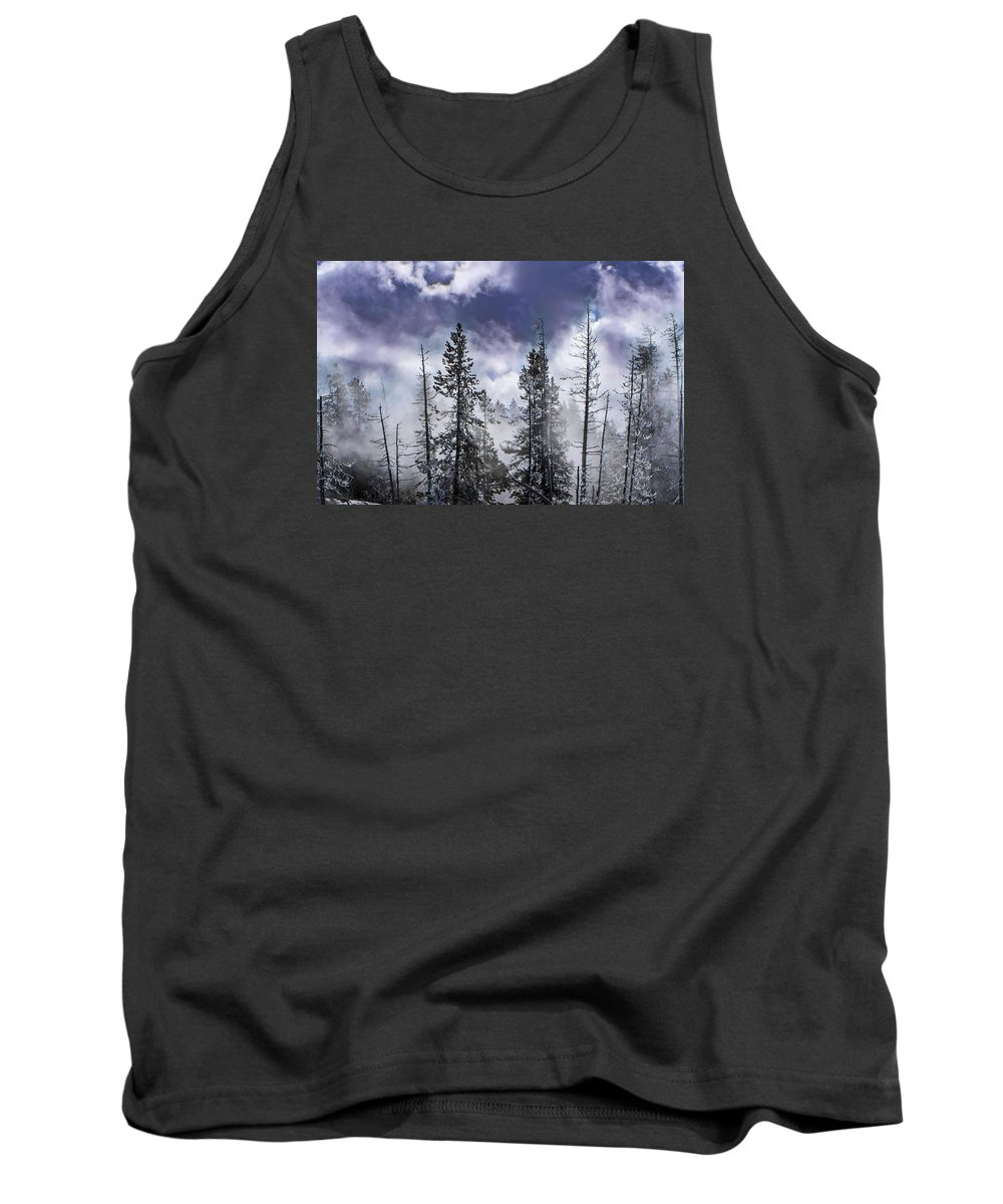 Clouds Tank Top featuring the photograph Clouds And Snow Swirling by NaturesPix