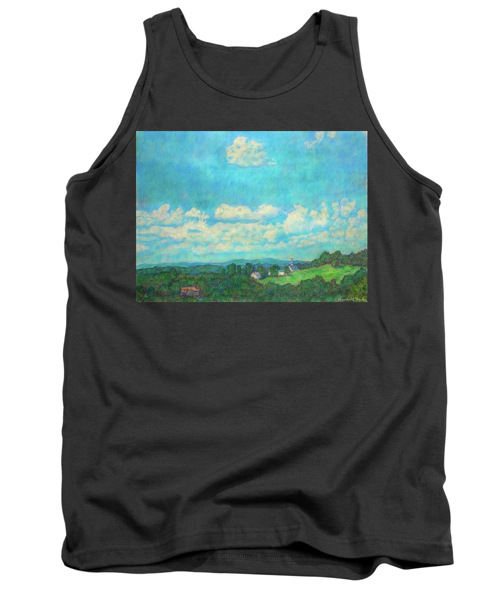 Landscape Tank Top featuring the painting Clouds Over Fairlawn by Kendall Kessler