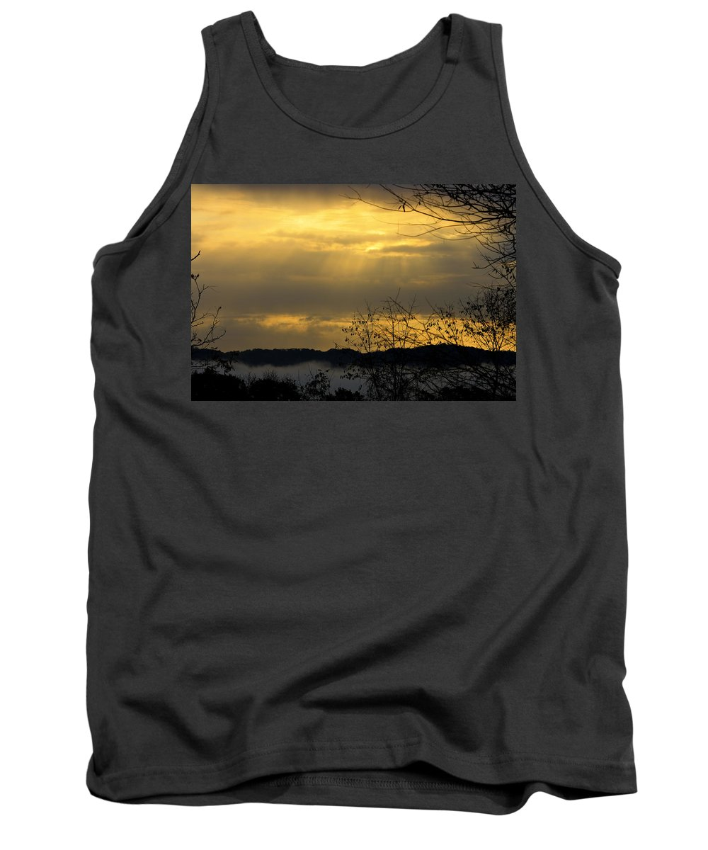 Sunrise Tank Top featuring the photograph Cloudy Sunrise 3 by Teresa Mucha