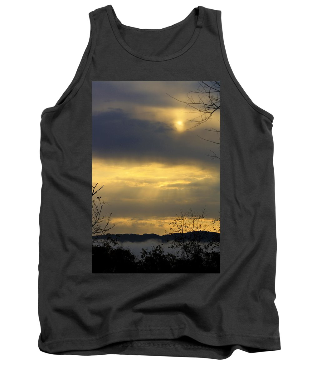 Sunrise Tank Top featuring the photograph Cloudy Sunrise 4 by Teresa Mucha