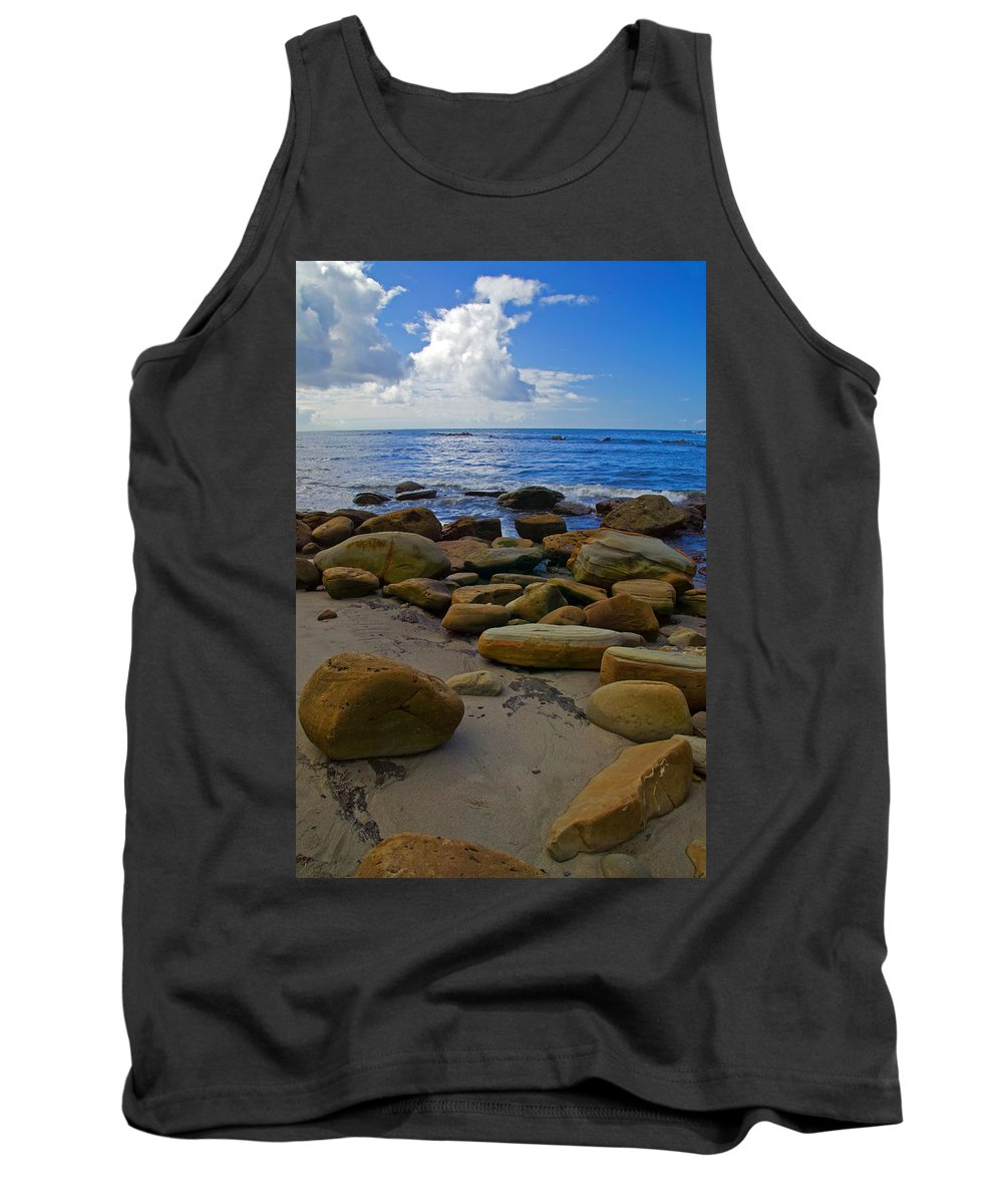Oceancsape Tank Top featuring the photograph Coarse Sand by Randall Ingalls