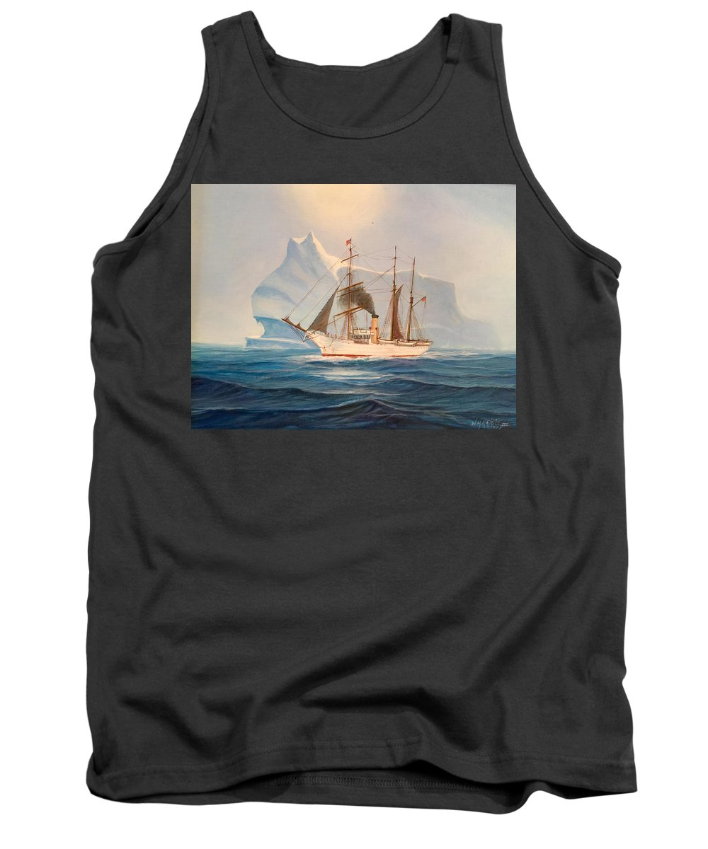 Coast Guard Tank Top featuring the painting Coast Guard Cutter Bear by William H RaVell III