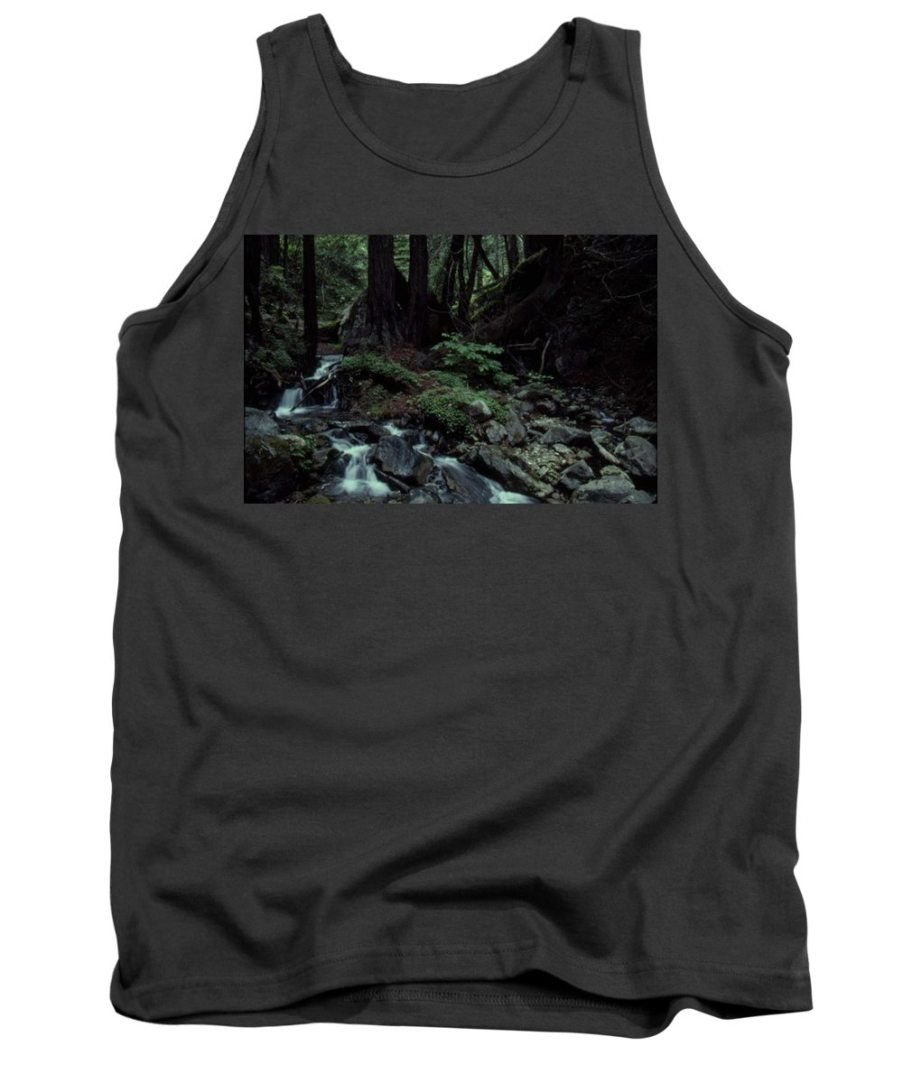 Creek Tank Top featuring the photograph Coastal Mountain Creek by Forrest Prater