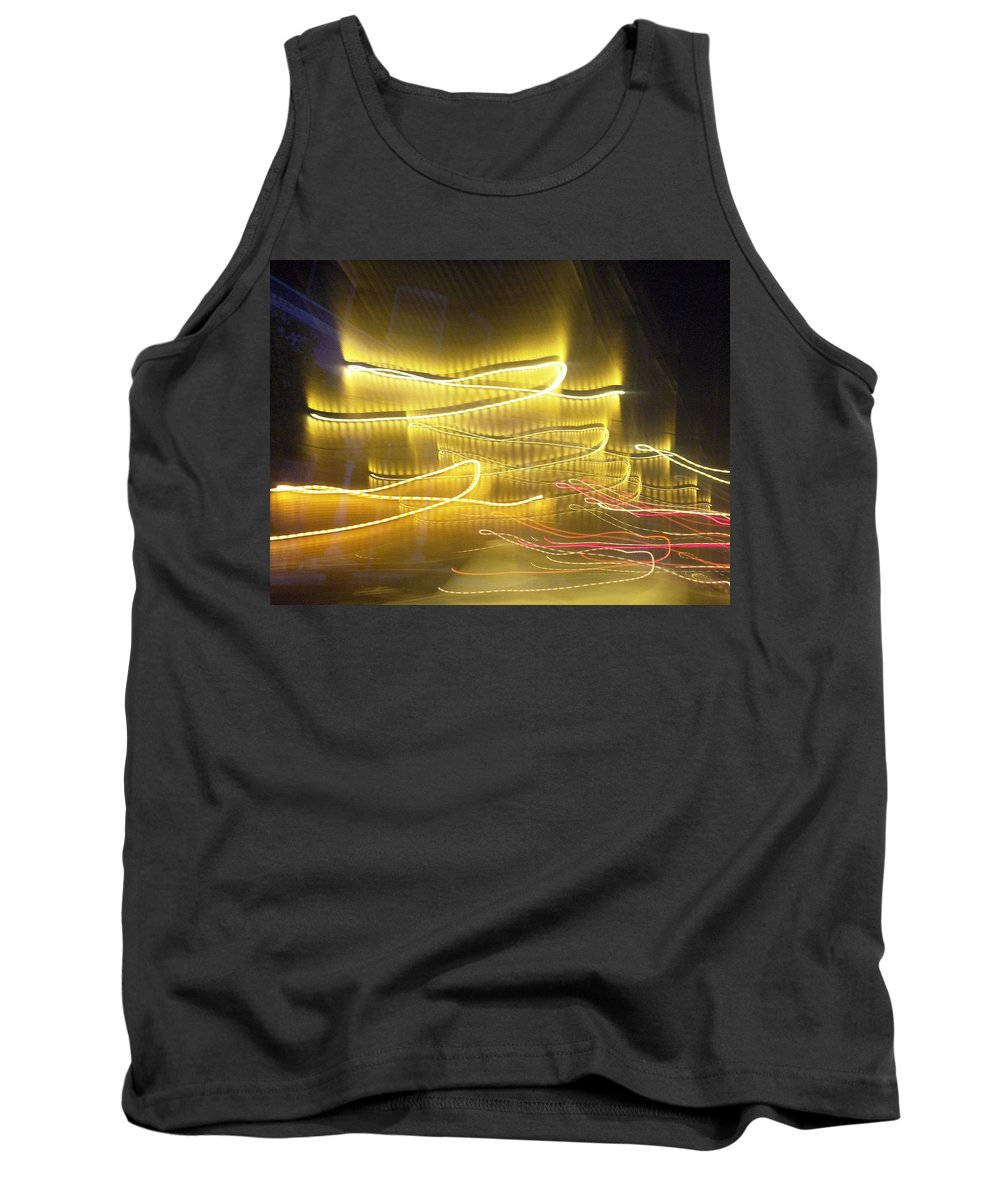 Photograph Tank Top featuring the photograph Coaster Of Lights Two by Thomas Valentine