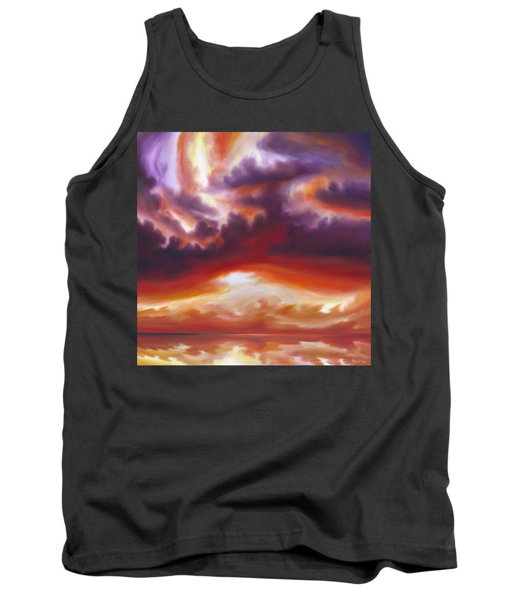Skyscape Tank Top featuring the painting Coastline by James Christopher Hill