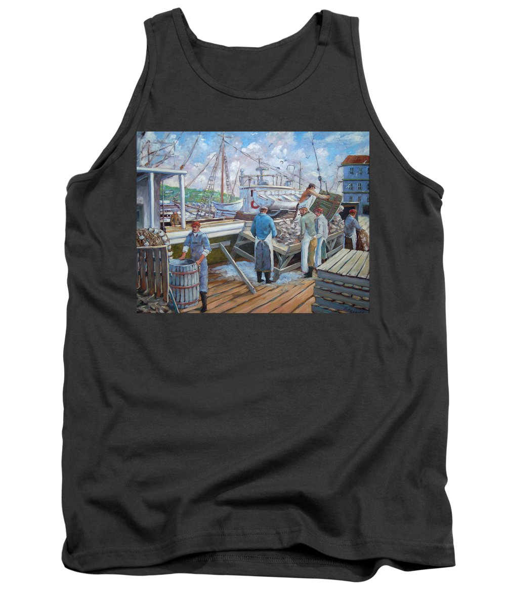 Cod Tank Top featuring the painting Cod Memories by Richard T Pranke