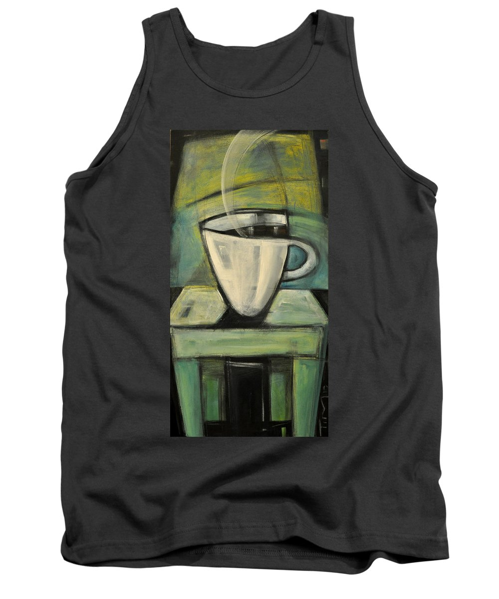 Coffee Tank Top featuring the painting Coffee. Table. 2 by Tim Nyberg