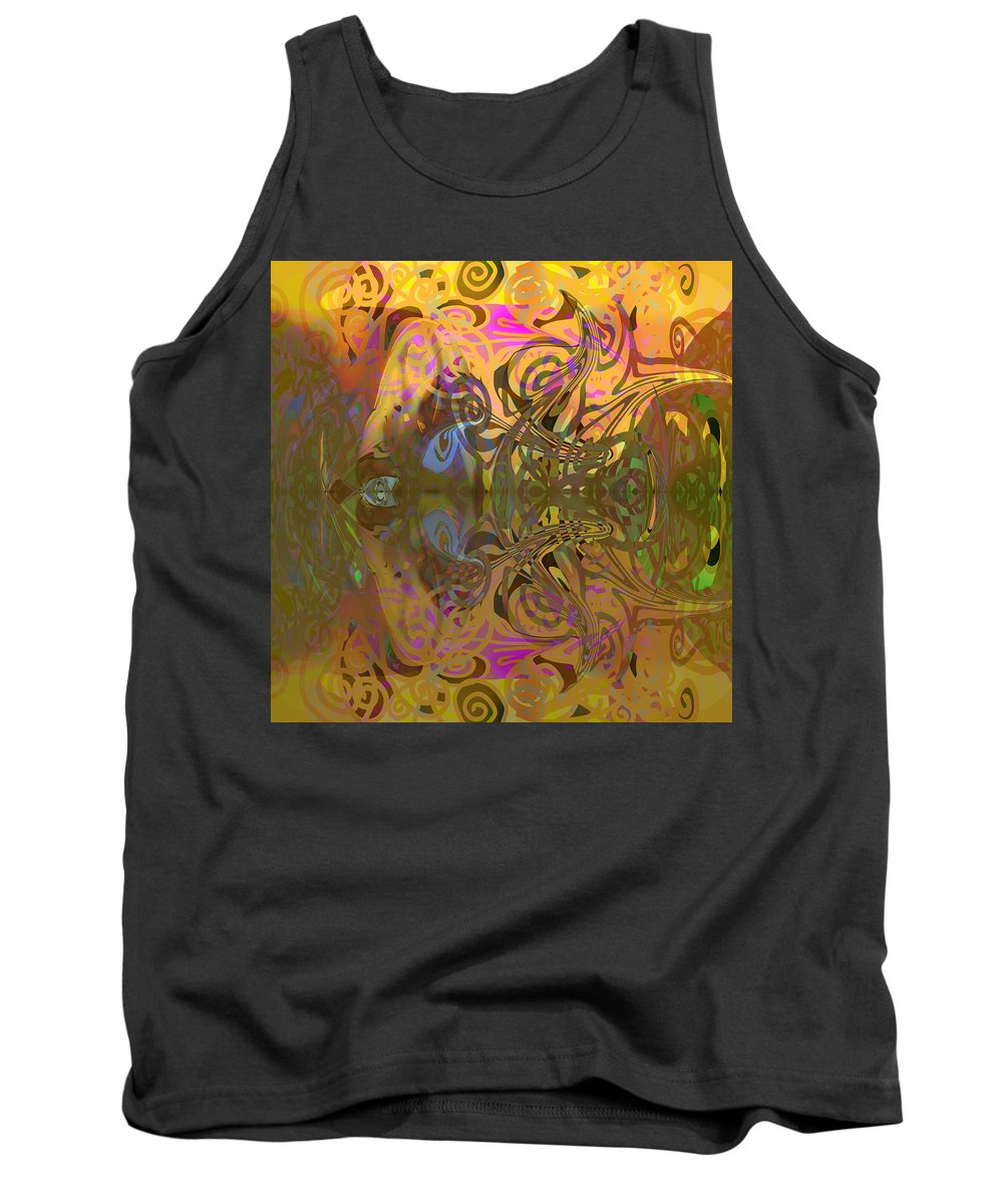 Abstract Tank Top featuring the digital art Cold light of day by Grant Wilson