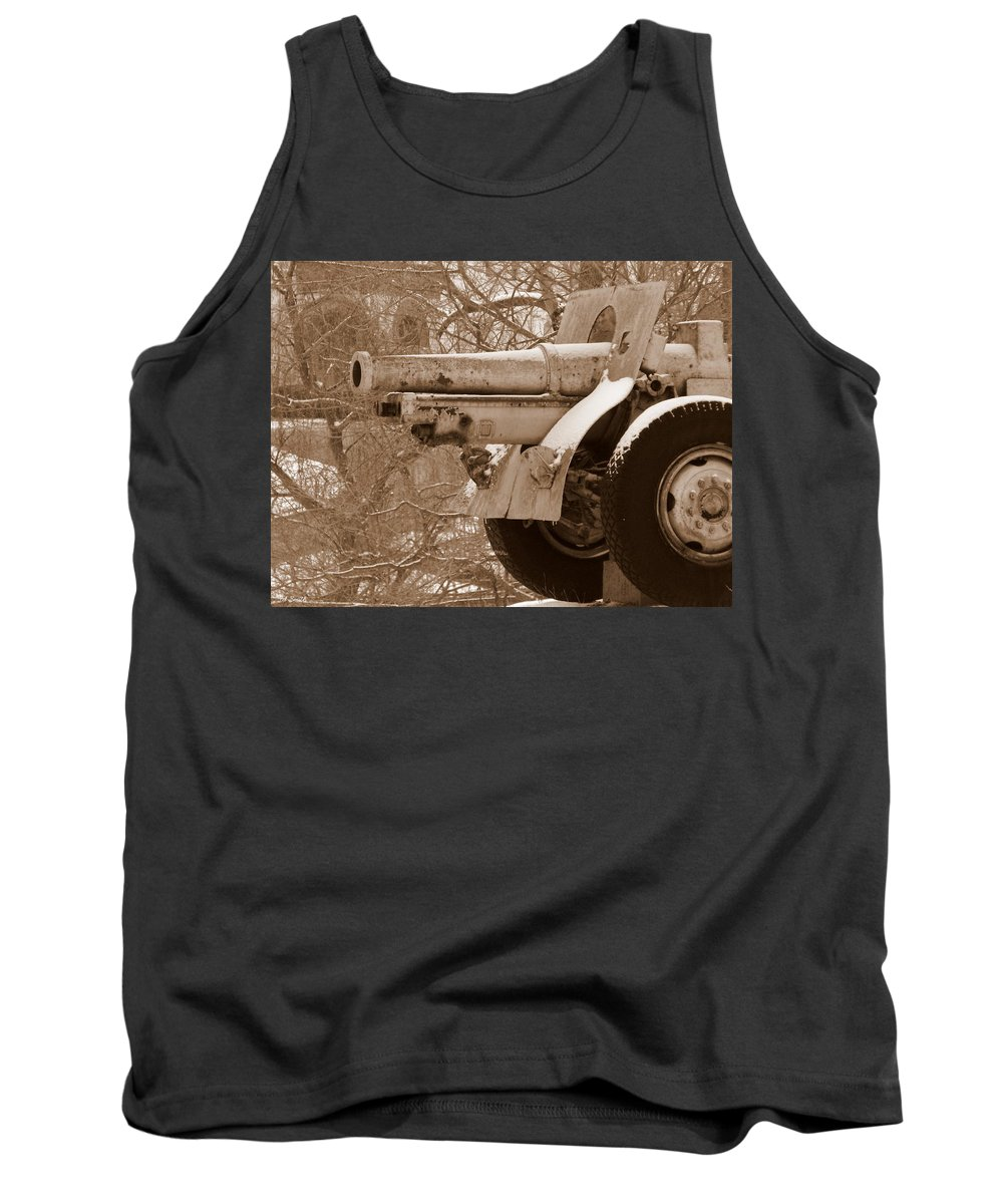 Cold Steel Tank Top featuring the photograph Cold Steel Indiana Soldiers Sailors Home by Ed Smith