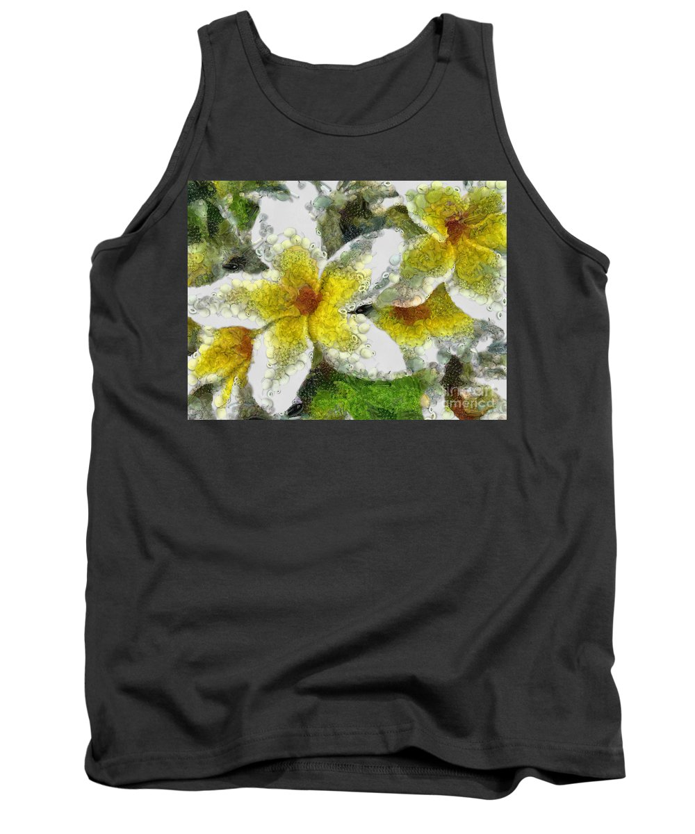 Lily Tank Top featuring the digital art Collage by Drazen Kirchmayer