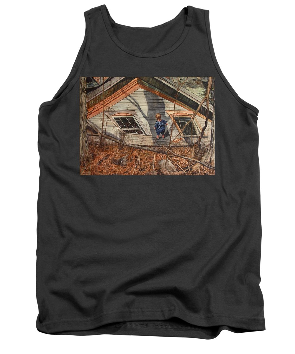 Children Tank Top featuring the painting Collapsed by Valerie Patterson