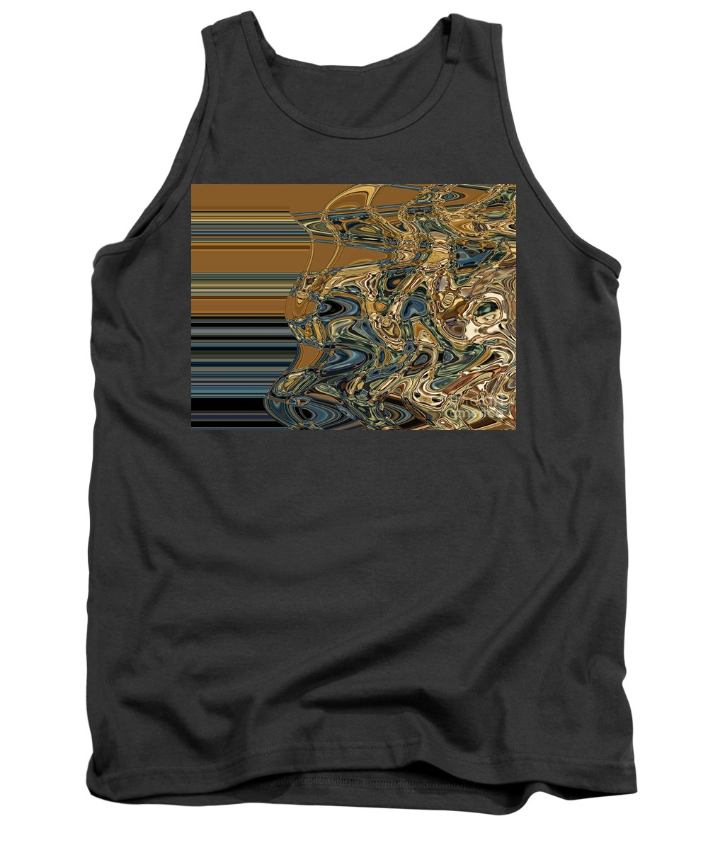 Motion Tank Top featuring the digital art Collision Xvi by Jim Fitzpatrick
