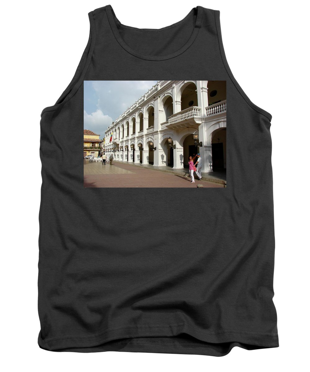 Colombia Tank Top featuring the photograph Colombia Courtyard by Brett Winn